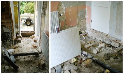 Kitchen demolition - mosaic