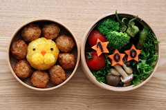 bento of this week: aug. 20 (hanabi.) Tags: food lunch anniversary lion bento 100  pondelion wappa charaben   100