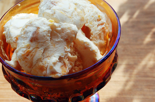 Roasted Peach Ice Cream