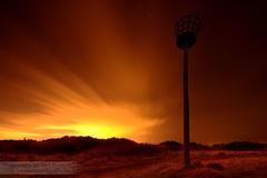 Time warp (~Glen B~) Tags: longexposure sky orange night clouds glow nest yorkshire cleveland crows streaky birk brow redbubble:id=38780052timewarp