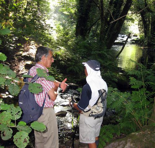 Eduardo e José no río Coura