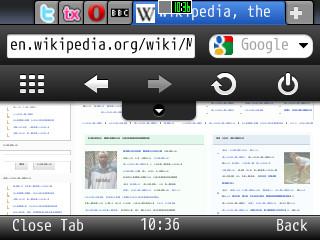 Screenshot opera mini 5 beta 02