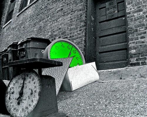 Green Wall Clock: Ready For Destruction