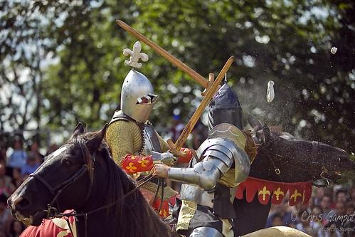 Knight Smashes Standard