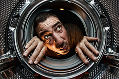 What's wrong with this washing machine ? (Vincent Montibus) Tags: selfportrait self nikon autoportrait interior flash fisheye nikkor washingmachine 16mm timer machinelaver d3 intrieur retardateur sb900 100creaciones
