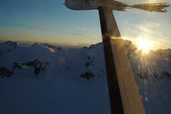 Flying over the Juneau Icefields into Juneau