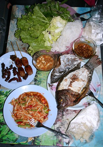 Dinner in Isaan Thailand