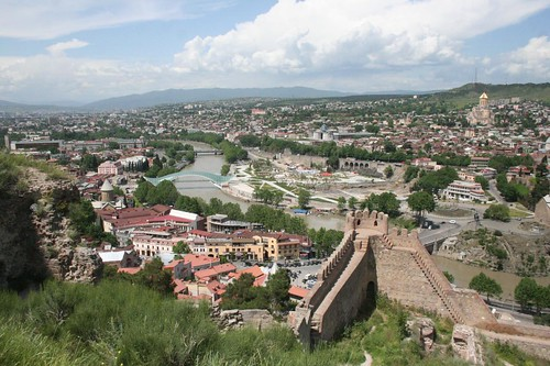 Tbilisi vista do cimo da Fortaleza