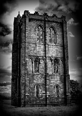 Cambuskenneth Abbey, Scotland:) (ClanUrbex) Tags: blackandwhite bw tower history abbey scotland churches adandoned cambuskennethabbey abandonedscotland veranique veraniquedron