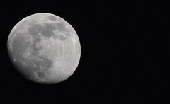 The Not So Round Moon (jami_lee) Tags: sky moon black craters outerspace