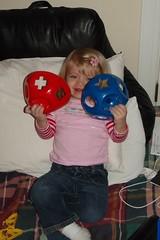 peekaboo with a broken shape-sorting toy