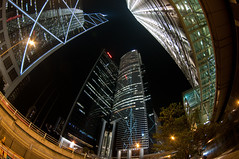 Central HK (whc7294) Tags: china hk hongkong central fisheye  bankofchinatower  cheungkong 10faves   superhearts platinumheartaward nikond300 tokinaatx107dx 10~17mmf35~45