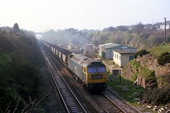 The South Wales Main Line (Fray Bentos) Tags: britishrailways class47 abandonedstation westernregion brushtype4 bristolrailways winterbourneglos winterbournedown