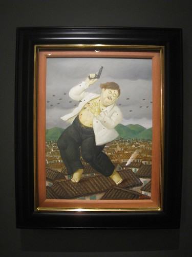 Fernando Botero´s depiction of Pablo Escobar´s rooftop death
