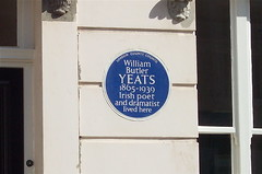 Photo of William Butler Yeats blue plaque