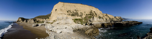 Sculptured Beach panorama 1