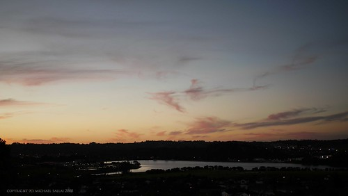candy floss clouds. Candy-floss clouds. After walking home I took this picture from our veranda