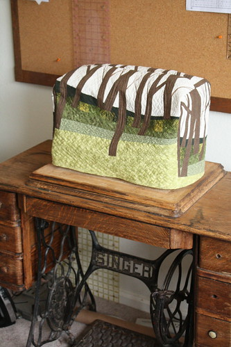 Sewing Machine Cover- with cabinet