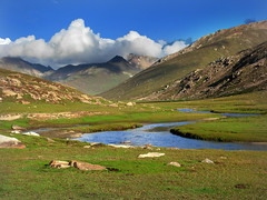 """Pubinar River Valley"" Naran Pakistan (Tanwir Jogi) Tags: blue pakistan sky lake water grass river valley kaghan nadeem asif farid naran jalkhad dodipatsar behsal tanwir trekkerz pubinarrivervalley"