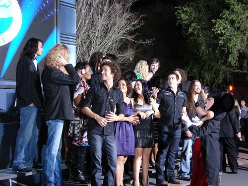 The Idols joking around during the photo shoot. Photo by Mark Goldhaber.