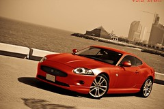 Jaguar XK (Talal Al-Mtn) Tags: orange car marina jaguar kuwait hardrock q8 xk kwtmotor talalalmtn