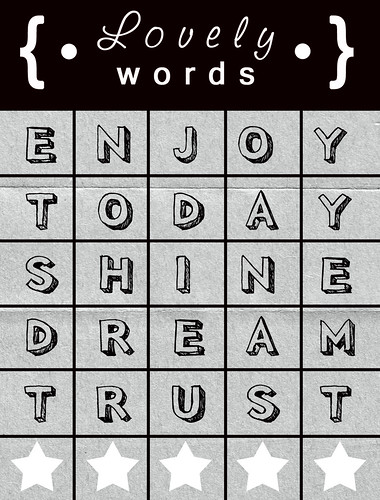 « lovely words freebie  «