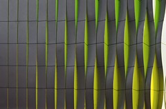The Wall is coming loose (Guido Musch) Tags: holland green netherlands yellow nikon nederland explore groningen modernarchitecture umcg d40 guidomusch