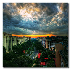 * breakthrough * (^soulfly) Tags: sky clouds sunrise singapore handheld hdb hdr 50v5f justclouds canon40d hdraward dragondaggerphoto dragondaggeraward superhdraward digitallyimages potraitpanorama