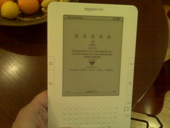 Random House gave me a Kindle as a gift for do...
