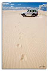 Footprints... (Sylver...) Tags: car clouds sand dunes footprints australia vehicle newsouthwales portstephens canon40d