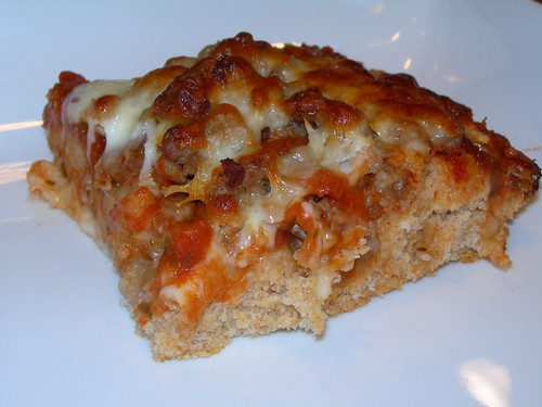 Sausage Biscuit Pizza Bake