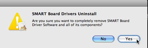 SMART Board Drivers Uninstall