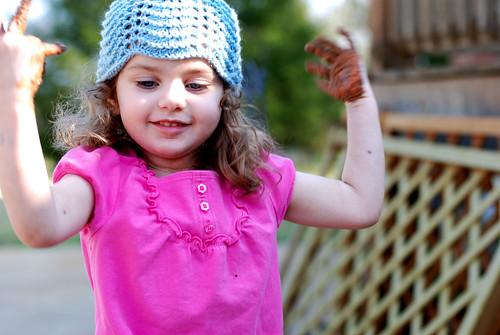 v blue hat 155