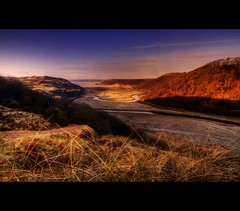 MEANDERING RIVER - THREE CLIFFS BAY (Wiffsmiff23) Tags: light swansea sunrise river three frosty cliffs soe meandering threecliffsbay thegower supershot platinumphoto