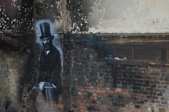 Req - Victorian Gentleman (Romany WG) Tags: street art abandoned beautiful souls lost decay asylum derelict 2009 hellingly req hauntingly