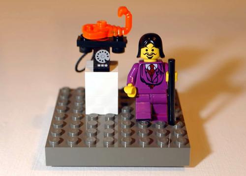 Salvador Dali Lego custom minifig