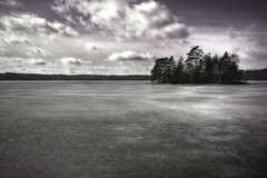 The island (martin fredholm) Tags: lake ice nature island spring outdoor desaturated hdr orton lucisart labmode photomatix friluft tonemapped 3exposures coolingfilter hrryda storahrsjn