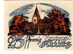 Klutz, 25 pf, 1922 (Iliazd) Tags: germany notgeld papermoney inflationary germancurrency emergencymoney germanpapermoney