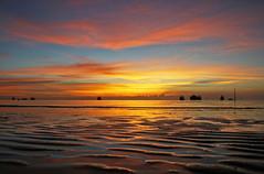 Thai Sunset - Koh Tao (malcstatic) Tags: sunset sea beach water beautiful wow thailand island boat interesting sand long waves adventure thai longboat kohtao boatride saireebeach thaiisland