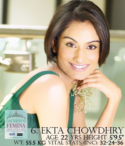 Miss India Universe Ekta Chowdhry's photo on Femina