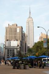 Empire State Building (jpellgen) Tags: city nyc usa ny newyork architecture america island nikon manhattan esb commodore empirestatebuilding 1855mm nikkor umbrellas 2008 d40