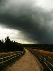 Heading into the storm (martin.roberts32) Tags: uk england storm weather clouds thunderstorm penningtonflash stormclouds pennington angryclouds martinroberts tz5 panasoniclumixtz5