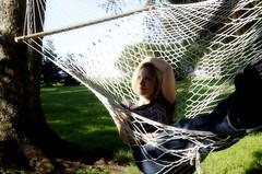 I'm A Lucky Girl (Owl Eyes 78) Tags: sun sunshine yard relax air country fresh hammock 365 breathe 107 107365