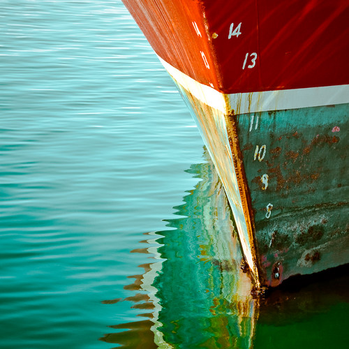 Cuba Gallery: Typography / water ripple / blue / red / color / reflection / ocean / texture background / ship / sea / boat / numbers / photography