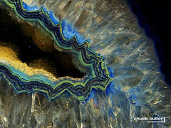 Inner Beauty (Chuck Cutler) Tags: blue nature beauty rock gold nikon natural crystal mineral geode quartz d90 chuckcutler