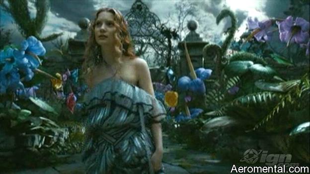 Trailer Alicia en el País de las Maravillas flores