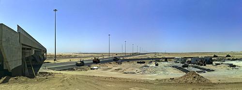 Kuwait City from Highway 90 in North Kuwait