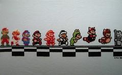 """Mario Across the NES Ages"" (kristenaderrick) Tags: crossstitch mario nes supermariobros xstitch"