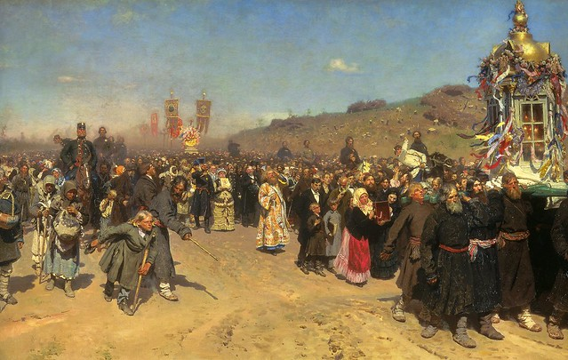 Repin, Ilya (1844-1930) - 1880-83 Easter Procession in the Region of Kursk (Tretyakov Gallery)