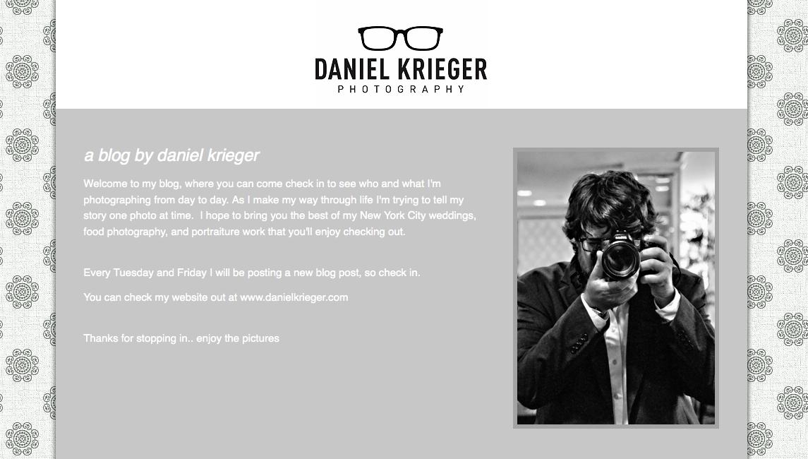 Daniel Krieger's New Blog